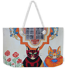 Rosa And Pedro Of The Rose Window Of Mission San Jose Weekender Tote Bag