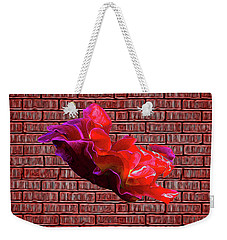 Rose Against The Wall Poster Weekender Tote Bag by Aliceann Carlton