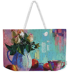 Rose And Peaches Still Life Weekender Tote Bag