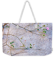 Weekender Tote Bag featuring the photograph Rose And Yellow Flowers by Silvia Ganora