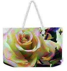 Rose Art 2 Weekender Tote Bag by Karen Nicholson