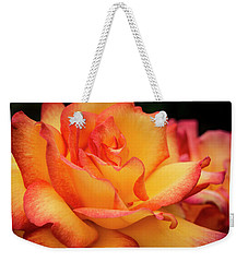 Weekender Tote Bag featuring the photograph Rose Beauty by Jean Noren
