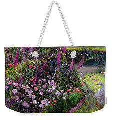 Rose Bed And Geese Weekender Tote Bag by Timothy Easton