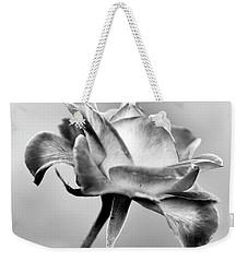 Rose Bloom In B W Weekender Tote Bag