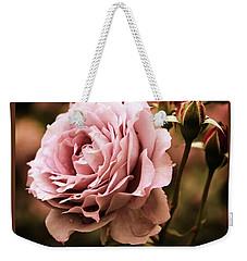 Rose Blooms At Dusk Weekender Tote Bag by Jessica Jenney