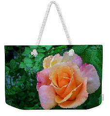 Weekender Tote Bag featuring the photograph Rose by Bonnie Willis