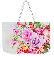 Rose Bouquet And Vintage Teapot Weekender Tote Bag