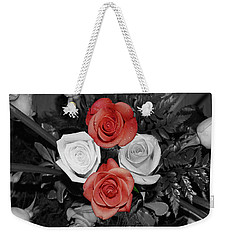 Rose Bouquet Weekender Tote Bag by DigiArt Diaries by Vicky B Fuller