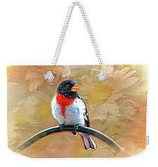 Rose-breasted-grosbeak Weekender Tote Bag by Mary Timman