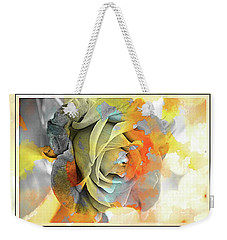 Weekender Tote Bag featuring the photograph Rose Bud by Athala Carole Bruckner