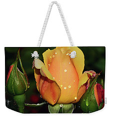 Weekender Tote Bag featuring the photograph Rose Bud by Elvira Ladocki