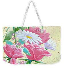 Rose Diptych 1 Weekender Tote Bag