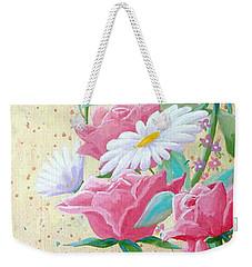 Rose Diptych 2  Weekender Tote Bag