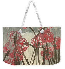 Weekender Tote Bag featuring the painting Rose Field by Artists With Autism Inc