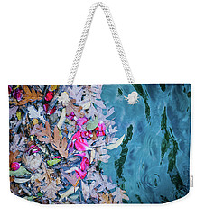 Rose Garden Fountain Weekender Tote Bag