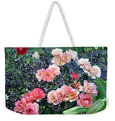 Weekender Tote Bag featuring the photograph Rose Garden by Sadie Reneau