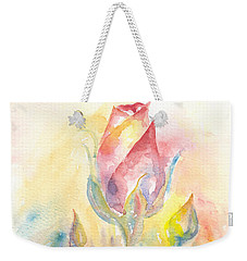 Rose Garden Two Weekender Tote Bag by Elizabeth Lock