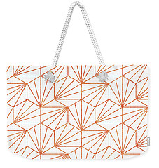 Rose Gold And White Weekender Tote Bag