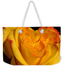 Weekender Tote Bag featuring the photograph Rose Heart by Margaret Bobb