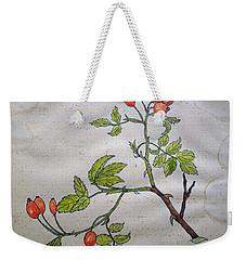 Rose Hip Weekender Tote Bag