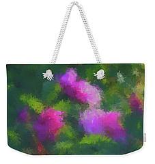 Weekender Tote Bag featuring the digital art Rose Impression by Aliceann Carlton
