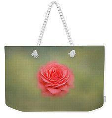 Weekender Tote Bag featuring the photograph Rose Impressions by Kim Hojnacki