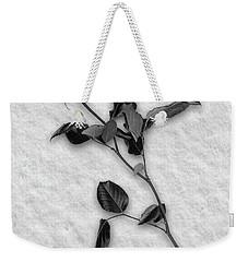 Rose In Snow Weekender Tote Bag