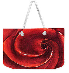 Weekender Tote Bag featuring the painting Rose In Stone by Allison Ashton