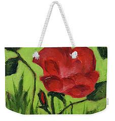 Rose Weekender Tote Bag by Janet Garcia