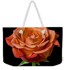 Weekender Tote Bag featuring the photograph Rose by Jim Hughes