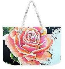 Rose Weekender Tote Bag by Jodie Marie Anne Richardson Traugott          aka jm-ART