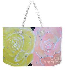 Rose Medley With Dewdrops Weekender Tote Bag