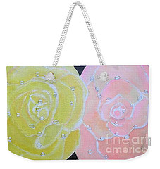 Rose Medley With Dewdrops Weekender Tote Bag
