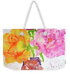 Rose Melody Weekender Tote Bag