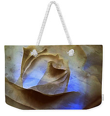 Weekender Tote Bag featuring the photograph Rose - Night Visions  by Janine Riley