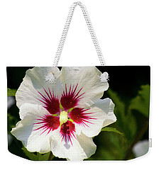 Weekender Tote Bag featuring the photograph Rose Of Sharon by Christina Rollo