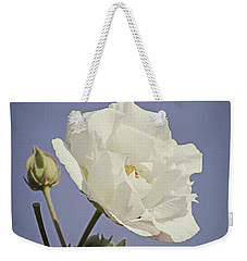 Weekender Tote Bag featuring the photograph Rose Of Sharon by Elaine Teague