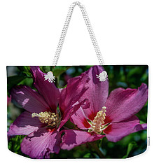 Rose Of Sharon Hibiscus Weekender Tote Bag by Garry McMichael