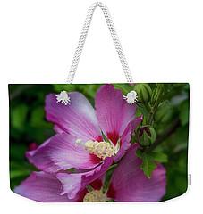 Rose Of Sharon Hibiscus Vertical Weekender Tote Bag