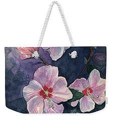 Rose Of Sharon Weekender Tote Bag by Katherine Miller