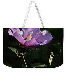 Rose Of Sharon Side Weekender Tote Bag by Warren Thompson