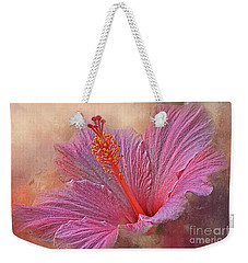 Rose Of Sharon Texture Weekender Tote Bag