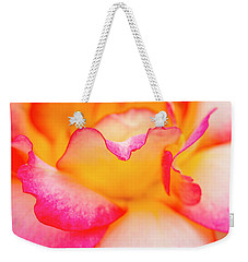 Rose Petal Curves Weekender Tote Bag by Teri Virbickis