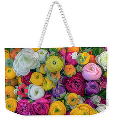 Rose Petals Weekender Tote Bag by Nadia Sanowar