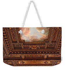 Weekender Tote Bag featuring the photograph Rose Reading Room Ceiling by Jessica Jenney