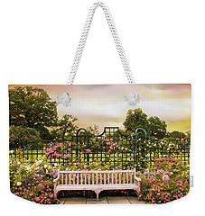 Weekender Tote Bag featuring the photograph Rose Respite by Jessica Jenney