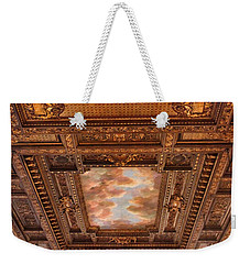 Weekender Tote Bag featuring the photograph Rose Room Ceiling by Jessica Jenney