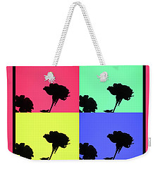 Rose Silhoutte - Photographic Collage - Fine Art Design Weekender Tote Bag