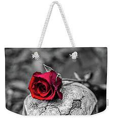 Rose Skull Weekender Tote Bag