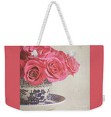 Weekender Tote Bag featuring the photograph Rose Tea by Lyn Randle